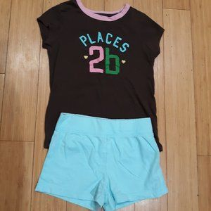 Girls Gap Shirt and Shorts Size 6